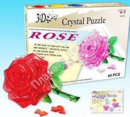 3d пазл бархатная роза